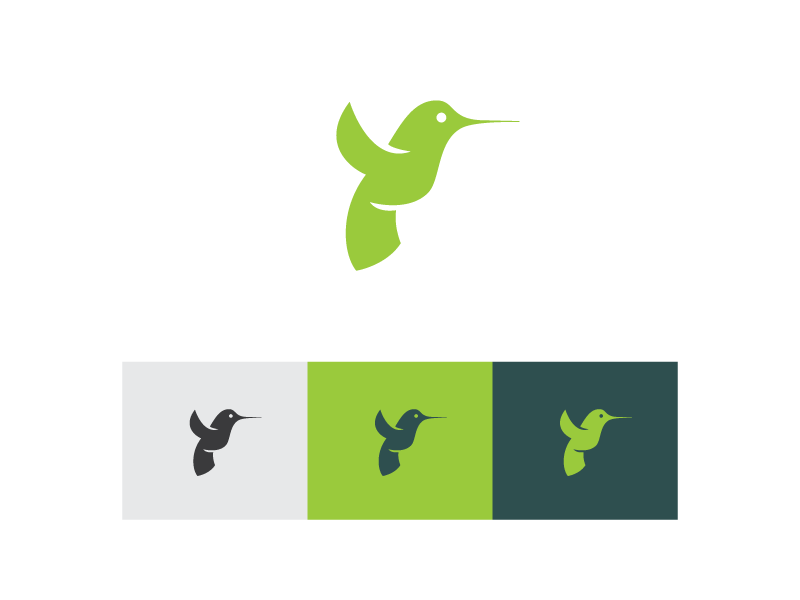 Hummingbird logo mark hummingbird bird environmental