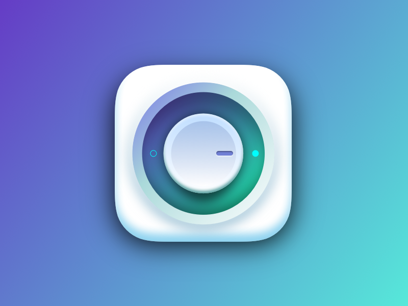 Dial Icon icon sketch3 gradient colourful dial ui tutorial
