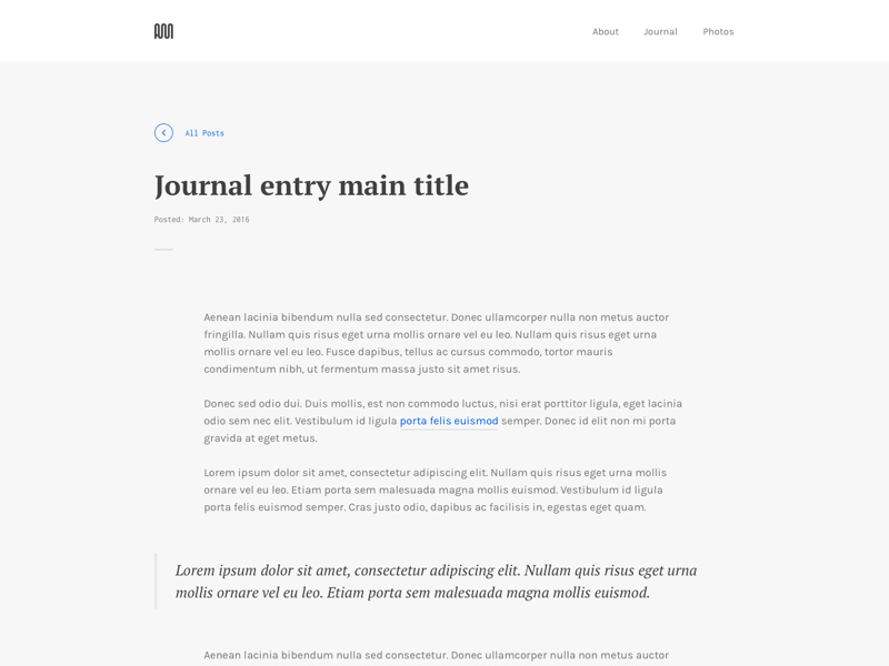 Personal Site Refresh minimal layout typography journal. big type blog portfolio personal