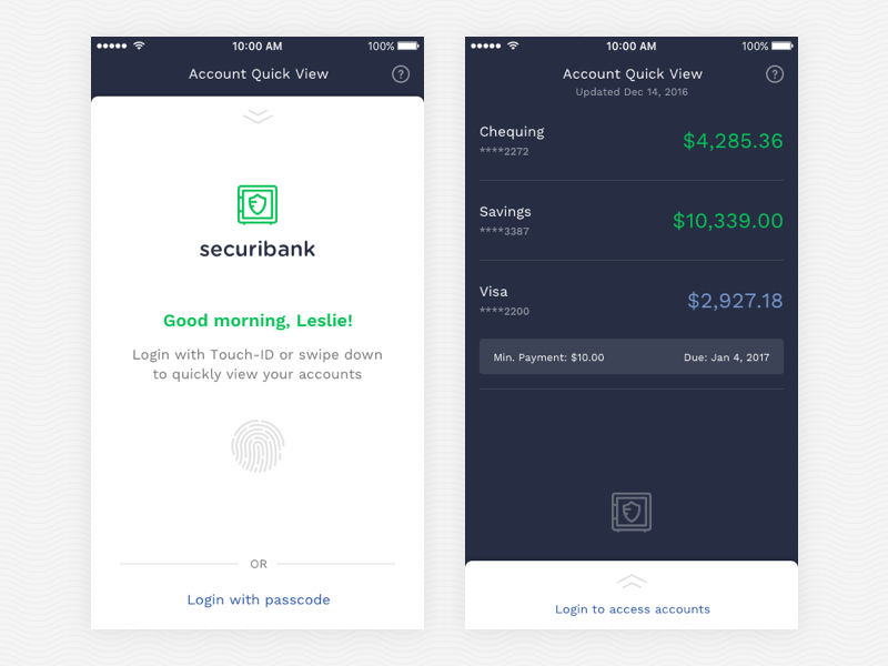 Mobile banking ios money banking app ui