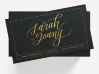 Custom Calligraphy Business Card