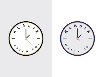 KLASIK Logo Concepts symbol minimal mark badge identity branding watch logo design