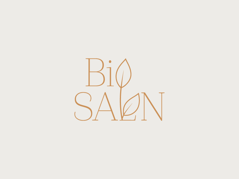 Organic Salon Logo brand design branding leaves logo illustration hair salon organic leaves salon logo
