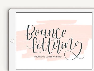 Bounce Lettering Procreate Brush modern lettering modern calligraphy ipad lettering procreate bounce calligraphy hand lettering lettering procreate brush bounce lettering