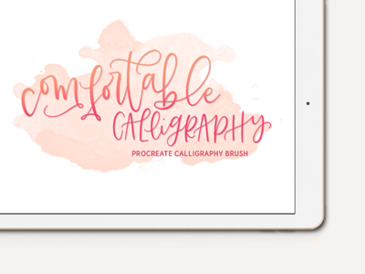 Comfortable Calligraphy Procreate Brush hand lettering flourish chalk calligraphy lettering custom brushes procreate brushes ipad lettering procreate