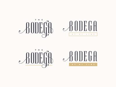 Bodega Brand Unused Designs typography bodega identity design identity logo branding