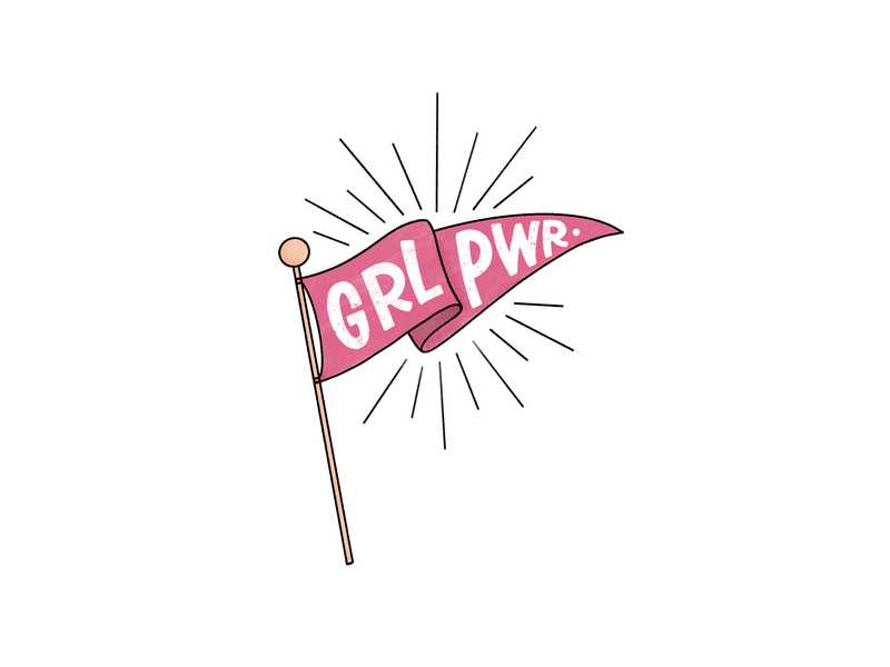 International Women's Day Doodle pennant banner international womens day illustration procreate branding hand lettering calligraphy ipad lettering