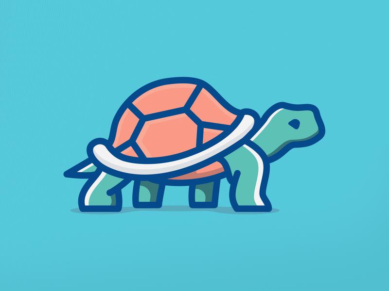 Turtle turtle animal mark logo