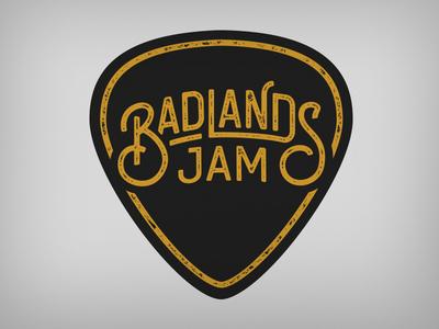 Bandlands Jam band logo band blugrass gold emblem logo mark branding black badge lettering typography logo