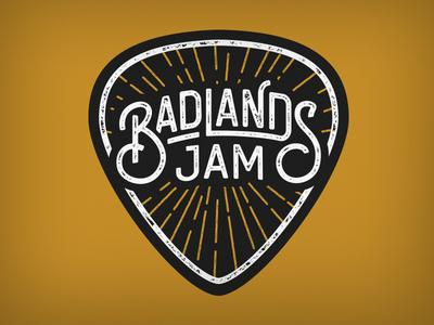 Badland Jam v2 gold band logo band branding black lettering emblem logo mark typography logo