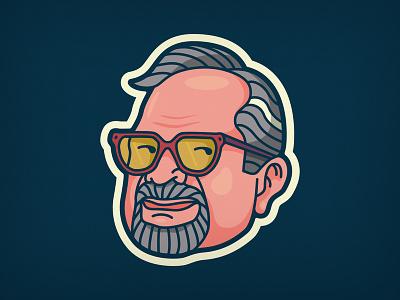 Ol' Man River man old character design face illustration head