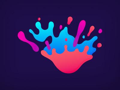 Inspired soul Concept design mark color drop splash
