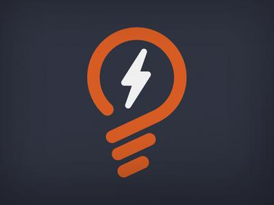 Life Solar Logomark solar energy light bulb electricity line branding emblem logo mark logo solar
