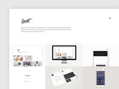 Commity - Upcoming Template portfolio minimal simple clean elegant personnal parallax themeforest template single page one page