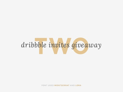 Two Dribbble invites giveaway