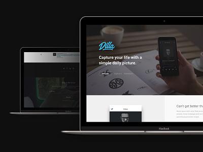 Dilla - Landing Page flat minimal clean html template onepage themeforest landing
