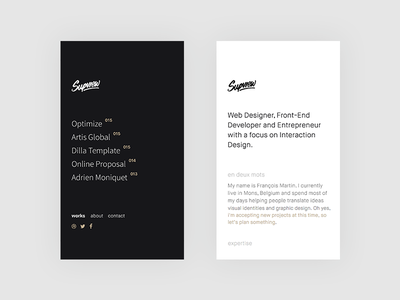 supview.be | Mobile Version mobile one page single page template themeforest parallax personnal elegant clean simple minimal portfolio