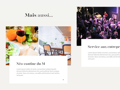WIP Webdesign for a caterer restaurant onepage minimal simple clean gold takeaway catering caterer webdesign