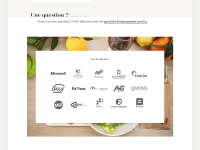 WIP Caterer Website gold caterer catering minimal simple clean elegant personnal parallax single page one page