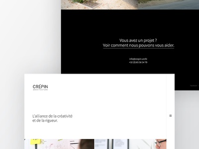 WIP Crepin Architecture architect brand webdesign personnal elegant clean simple minimal portfolio