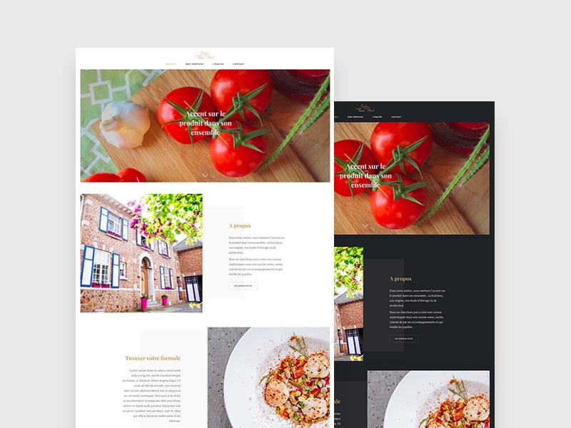 D OR W restaurant clean food minimal webdesign website wip caterer deli