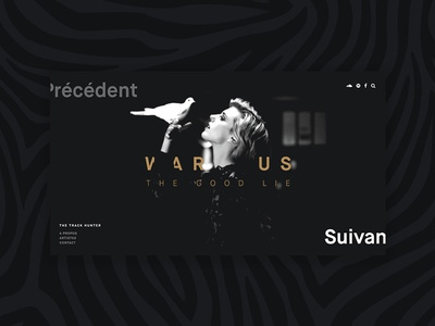 TTH - Update 2 (WIP) webdesign slider simple music minimal fullscreen dark big image