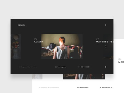 stargasm. personnal bold clean photographer photography photo template theme minimal