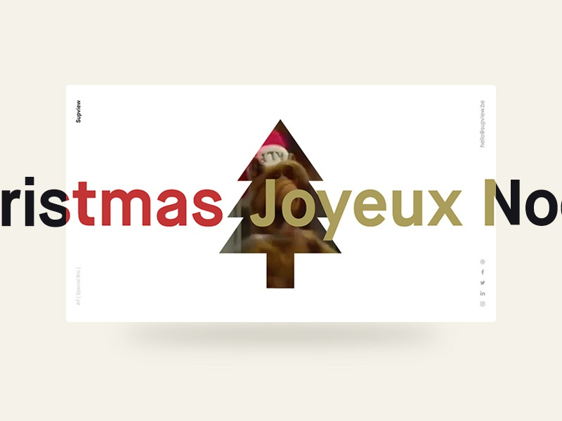 Merry Christmas from Supview santa webdesign simple whishes whish noel christmas merry xmas