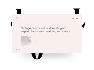Jolan - Proposal minimal webdesign clean photography one page horizontal scroll website principle parallax