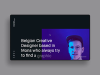 FM/Folio ― 01 transition resume principle app dark parallax portfolio personnal clean webdesign minimal