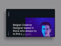 FM/Folio ― 01 transition resume principle app dark parallax portfolio personnal clean webdesign minimal