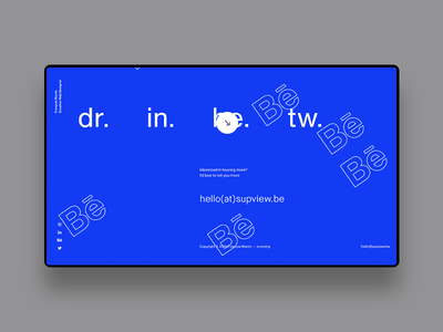 FM/Folio ― 02 socials uiux transition animation principle parallax portfolio clean webdesign minimal
