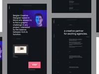 FM/Folio ― Behance Case motion showcase social icon mobile video principle parallax portfolio simple webdesign clean minimal