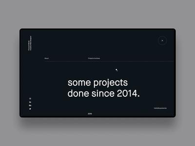 FM/Folio ― 03 webdesign transition portfolio x personnal paralla minimal dark clean app