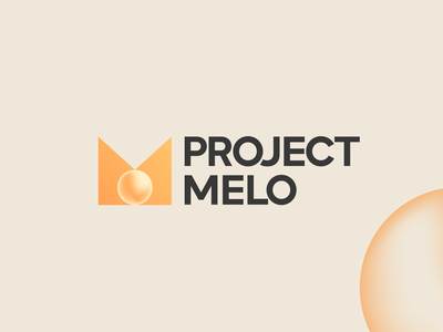 Logo for Project Melo abstract logo letter m logo