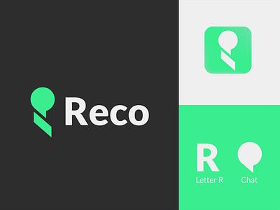 App Logo for «Reco» branding startup logo chat logo r logo abstract logo logo