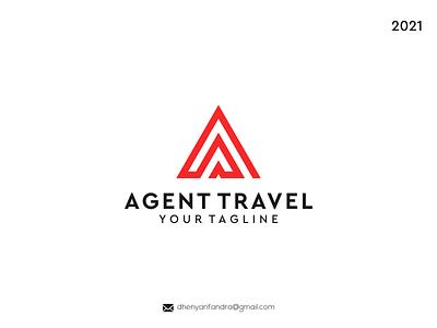 LOGO AGENT TRAVEL ui ux typography illustration branding vector logo icon graphic design design