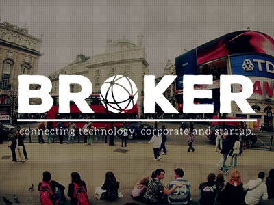 Broker - Connecting technology, corporate and startup bigfont globe ghostbutton onepage responsive website logo