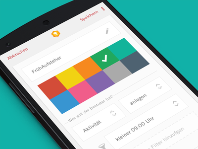 Create personalised achievements / challenges colours design gamification crm smartphone iphone nexus mobile ui
