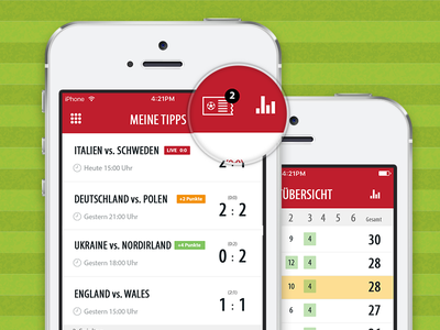 Kicktipp mobile betting app redesign euro2016 pixelperfect psd sports soccer betting redesign ui mobile
