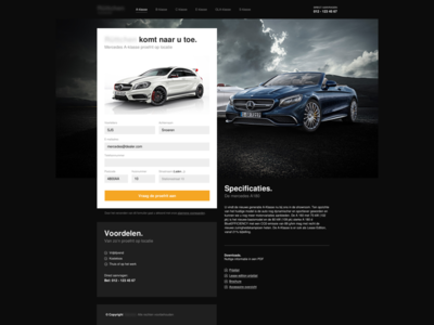Mercedes Dealer marketing landingspage black sans nimbus helvetica light dark dealer mercedes