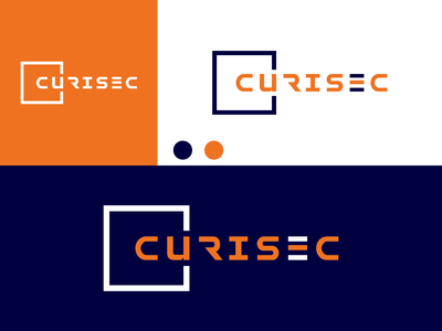 CURISEC logo design inspiration ux vector ui typography illustration icon logo graphic design design branding