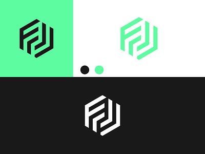 LETTER FJ Logo disign inspiration ux vector ui typography illustration icon logo graphic design design branding