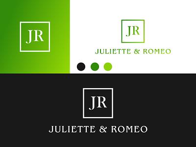 JR JULIETTE & ROMEO Logo disign inspiration ux vector ui typography illustration icon logo graphic design design branding