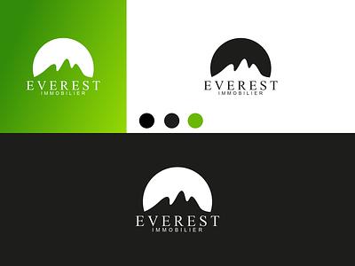 EVEREST IMMOBILIER Logo disign inspiration ux vector ui typography illustration icon logo graphic design design branding