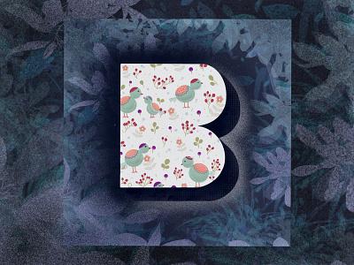 36 Days of type - B brand identity bird typography design font design font doodleart doodling bird illustration typographic typography art b letter procreate typogaphy 36daysoftype02 36daysoftype 36days