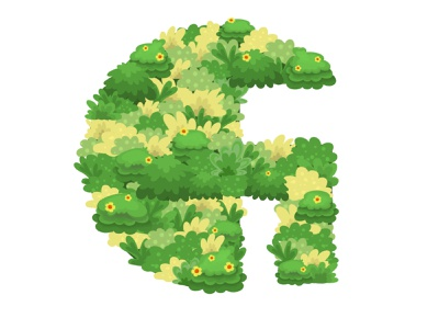 36 days of type: G bush grass green illustration illustration green letters logo graphic design procreate art typography 36 days of type