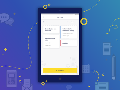 Notes Screen tasks app ui ux add notes hotel management app notes tab manage
