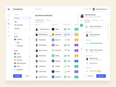 Hiring Platform app web app clean interface design mobile ux ui recruitment dashboard candidates hiring hiring platform