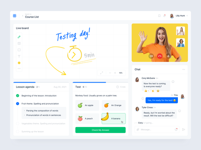 Online Learning Service clean online learning app chat online learning english lesson illustration interface design ux ui education learning english language app learning platform learning service